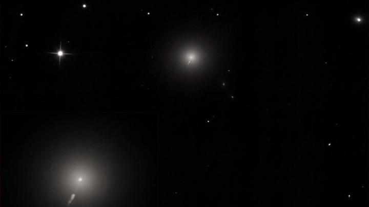 Новосибирцы сняли галактику, известную своей чёрной дырой: на фото попал джет