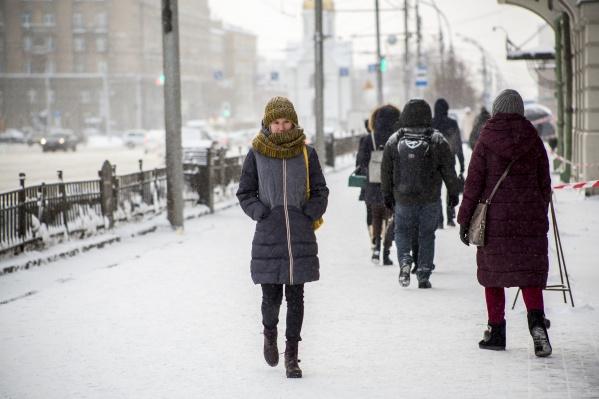 В этом году погода зимой особенно теплая