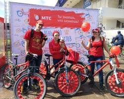 «День 1000 велосипедистов» окрасился в цвета МТС