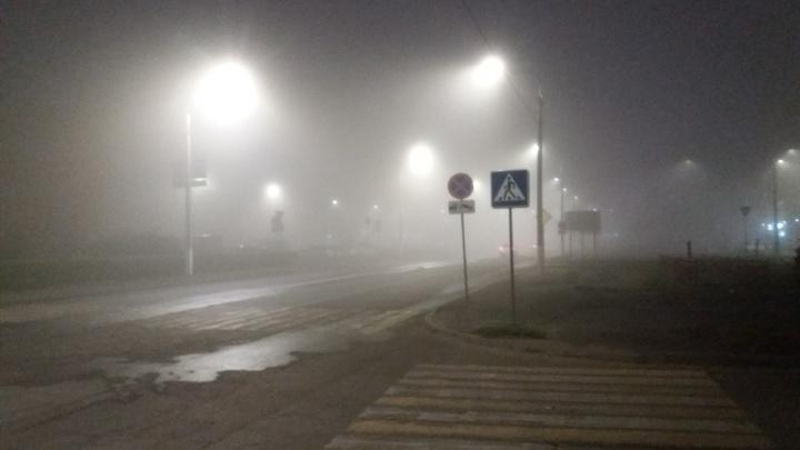 «На дорогах видимость нулевая»: Волгоград неожиданно окутал густой туман