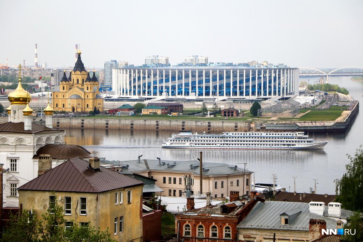 Не только реки сливаются в Нижнем Новгороде, но и современная и старинная архитектура