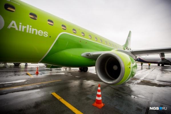Самолёт ждут в Новосибирске в 18:37