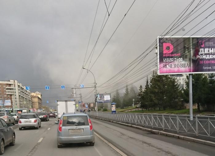 Пожар произошёл на улице Максима Горького