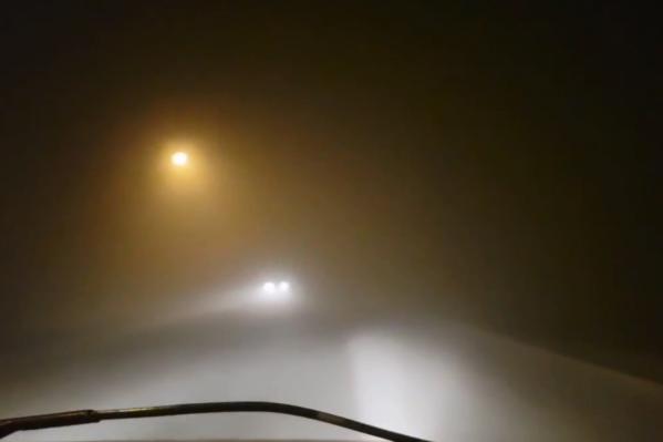 На дорогах сильный смог