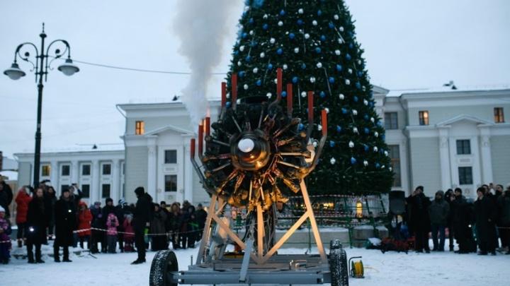 Зрители восприняли ЧП как часть перформанса: в Перми на шоу «Сердце Швецова» загорелся авиамотор