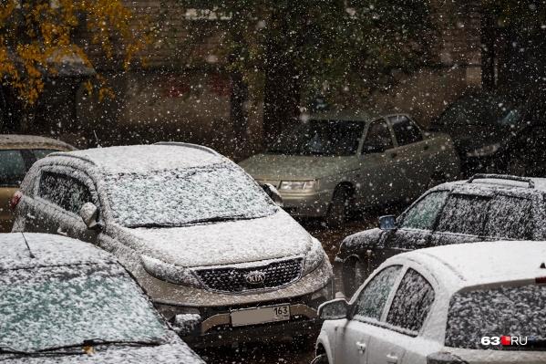 Снегопад в Самарской области начался ночью