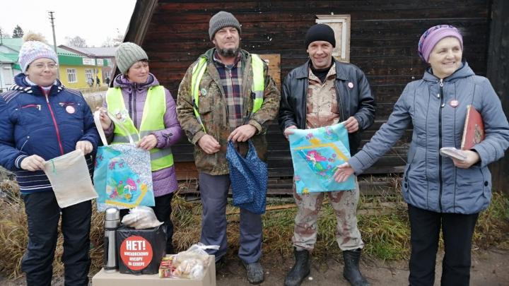 «Бессрочка удалась»: как в Красноборске прошёл первый день акции протеста против стройки на Шиесе