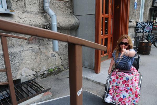 Ольга Стволова рассказала, что не смогла самостоятельно попасть в здание мэрии на инвалидной коляске
