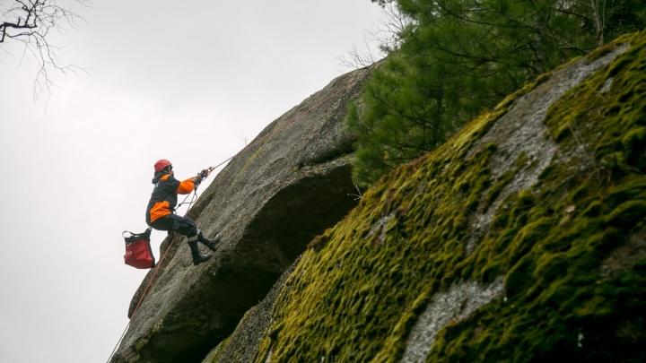 Туристка сломала ногу при покорении скалы на «Столбах»
