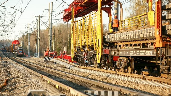 Ремонт железнодорожных путей в этом году превысил 500 км Северной магистрали
