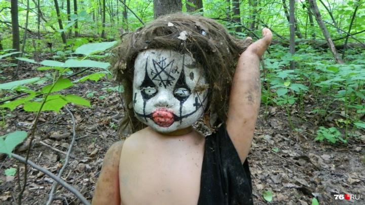 Сектовед рассказал, что означает найденная в ярославском лесу кукла с пентаграммой на лбу