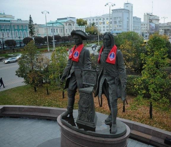 За 21 год памятник Татищеву и Де Геннину стал безусловным символом Екатеринбурга