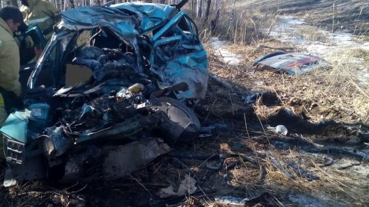 В Шадринском районе легковушка врезалась в МАЗ: два человека погибли