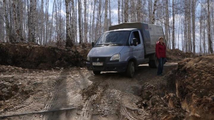 Деньги выделяли дважды: дорогу к новому микрорайону под Челябинском достроят осенью