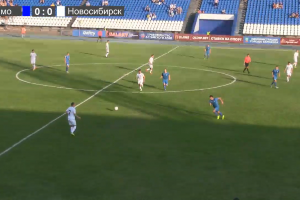 Новосибирская команда играет в форме белого цвета