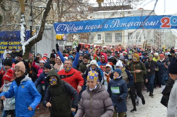 Забег 1 января стал настоящим семейным спортивным праздником, без победителей и проигравших