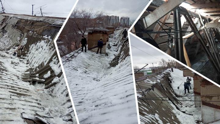 В доме на Ивана Булкина развалилась крыша пятиэтажного дома