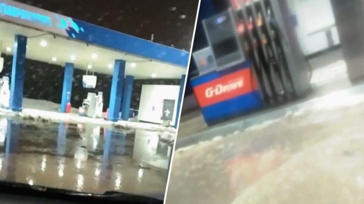 Город поплыл: Новосибирск утонул в лужах после февральской оттепели