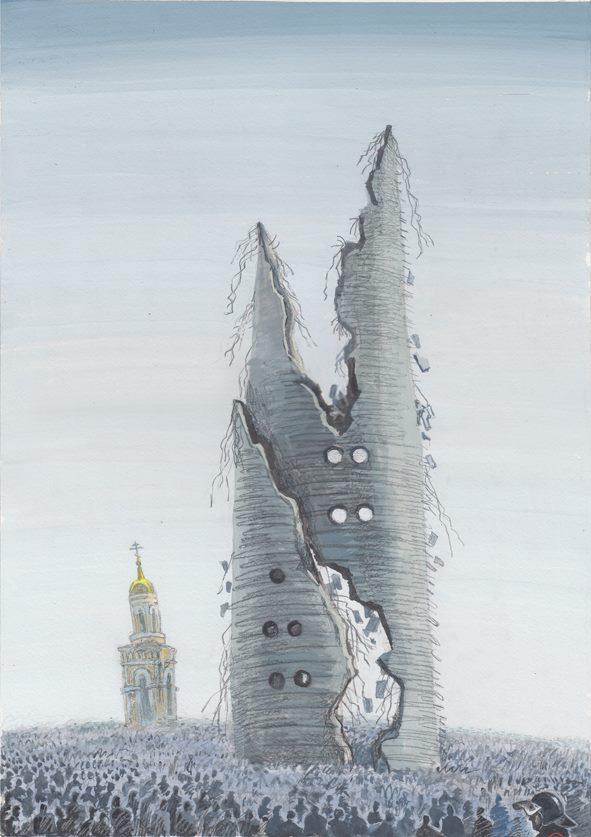 «Смерть башни». Автор — Алексей Рыжков