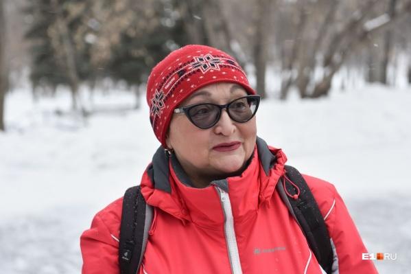 Ирина Вдовина занимается скандинавской ходьбой около 10 лет