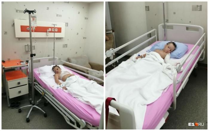 Мальчики лежат в больнице