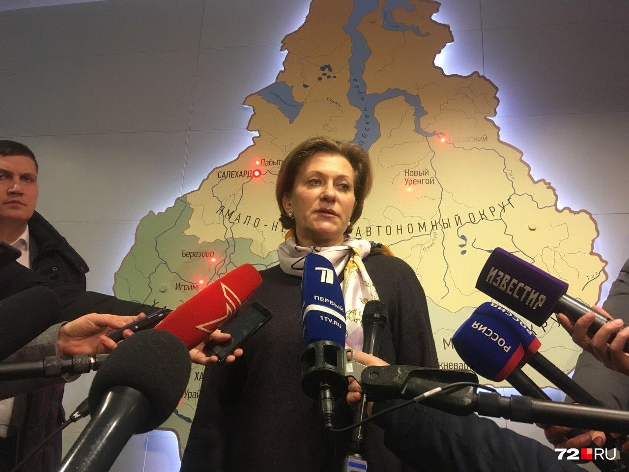 Глава Роспотребнадзора Анна Попова прилетела в Тюмень вечером вчера, 5 февраля