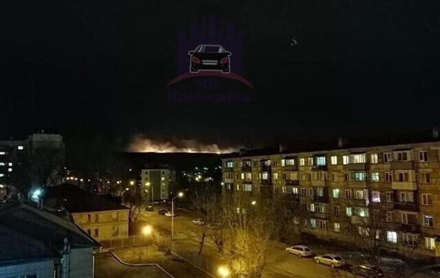 Ветреной ночью полыхала гора в Черёмушках
