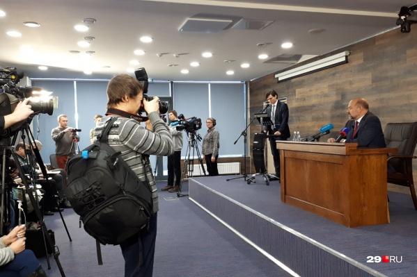 Игорь Орлов общался с журналистами больше двух часов