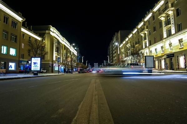 Подсветка на проспекте Мира