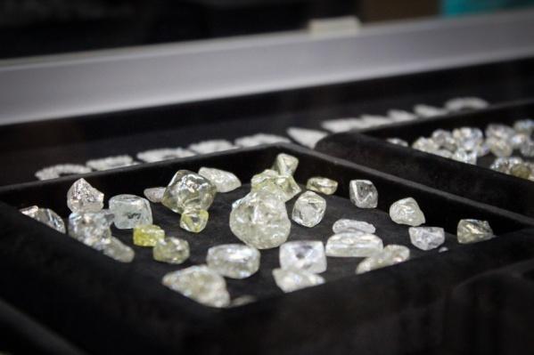 На этом фото самый крупный алмаз — в центре — 63 карата. А самый крупный во всей Европе больше этого экземпляра в три с лишним раза