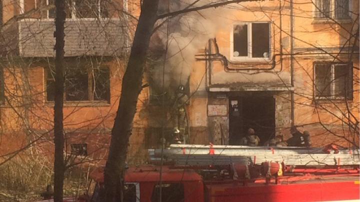 В Перми на улице Мира произошел пожар: пострадали трое жильцов