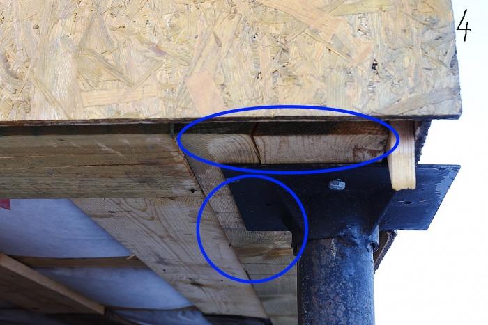 Один из немногих недостатков, которые застройщик признал, — отсутствие изоляции между деревянным фундаментом и металлической сваей