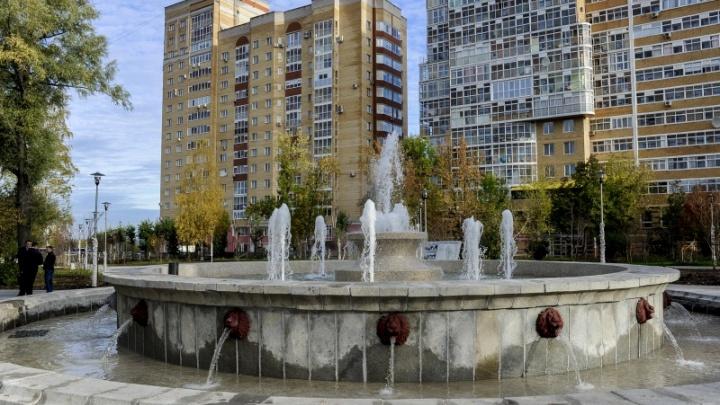 «Осталось покрасить головы львов»: в сквере Розалии Землячки протестировали новый фонтан