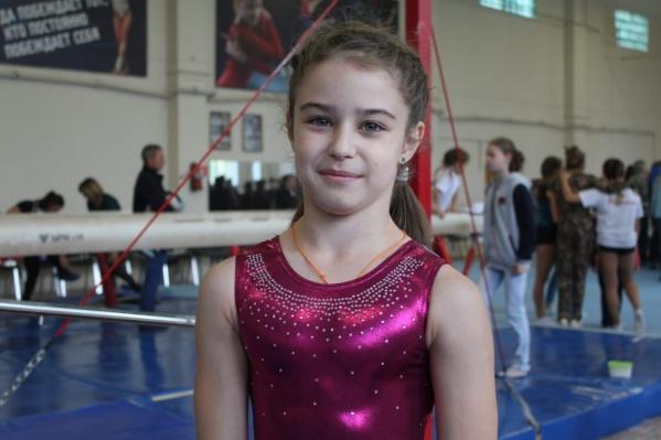 Виктория Горбачева с пяти лет занимается спортивной гимнастикой