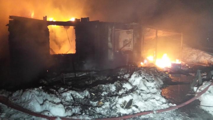 В Екатеринбурге в пожаре сгорел пожилой хозяин дома