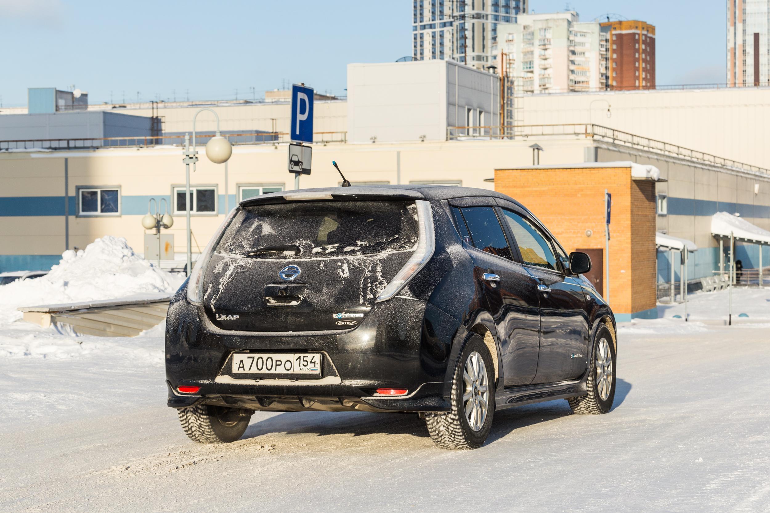 Этот Nissan Leaf 2014 года выпуска купили более года назад во Владивостоке