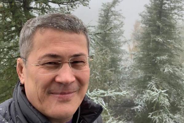 Радий Хабиров одним из первых в этом году снял заснеженный пейзаж