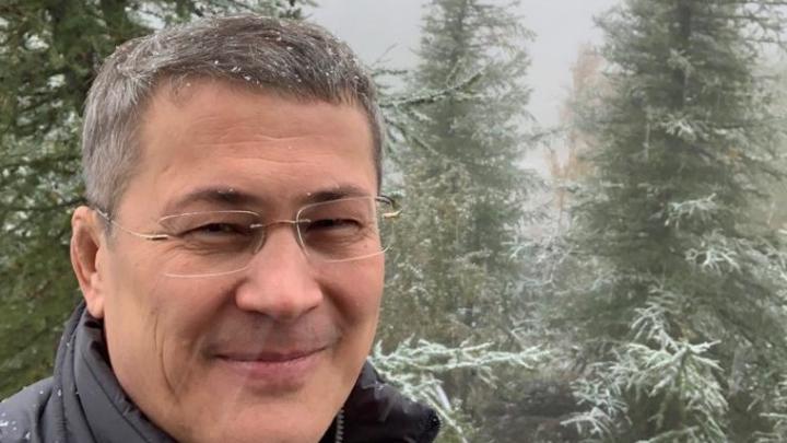 В Башкирии разразился снегопад — Радий Хабиров первым сделал зимнее селфи