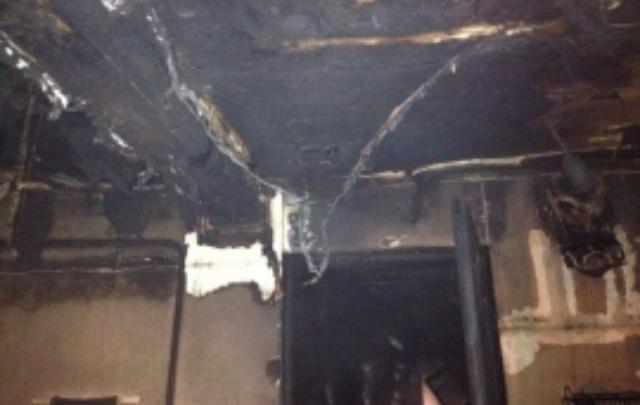 В Уфе сгорел жилой дом