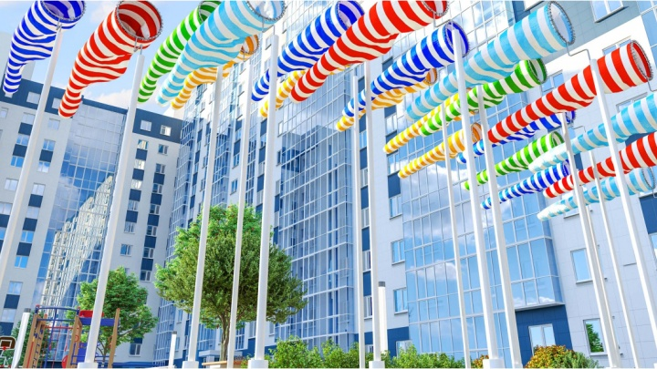 С реактивной скоростью: жилой комплекс на улице Аэропорт готов уже наполовину