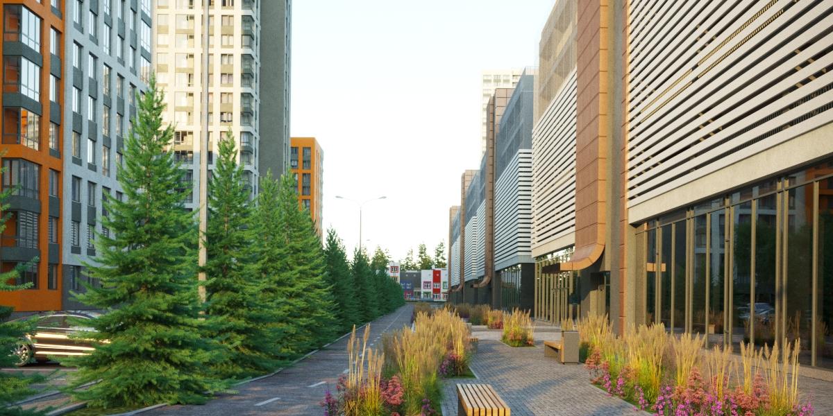 Паркинг будет построен вдоль еловой аллеи, посаженной ТЭН для жителей микрорайона
