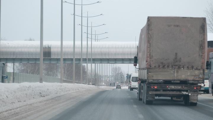 В Прикамье из-за потепления ограничат движение грузовиков по трассам