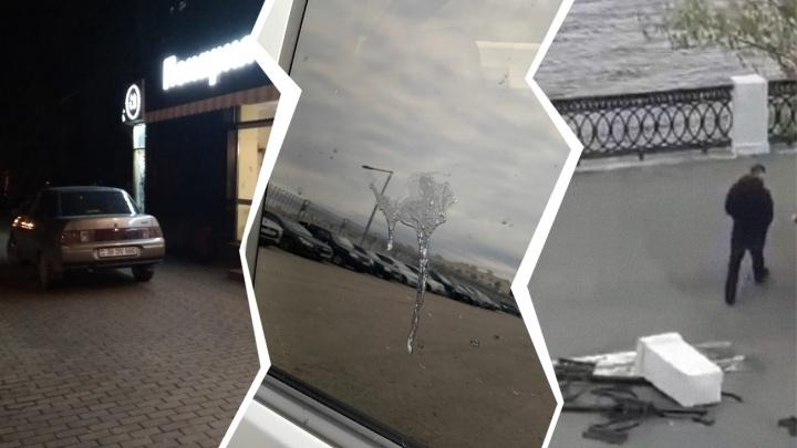 Автохамы в городе: «учебный» плевок на стекло и парковка у пекарни