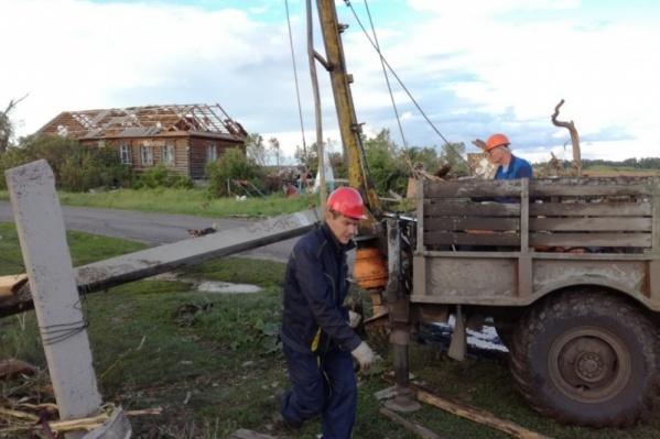 Энергетики восстановили разрушенную ураганом распределительную сеть напряжением 10 киловольт