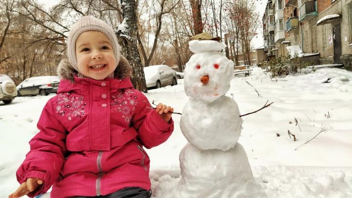Новосибирцы массово налепили снеговиков: сравните, у кого получился больше