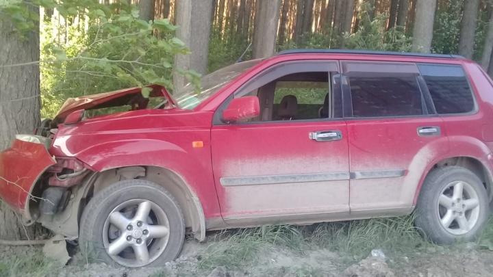 В Берёзовском мужчина на Nissan влетел в дерево, пострадала его шестилетняя дочь