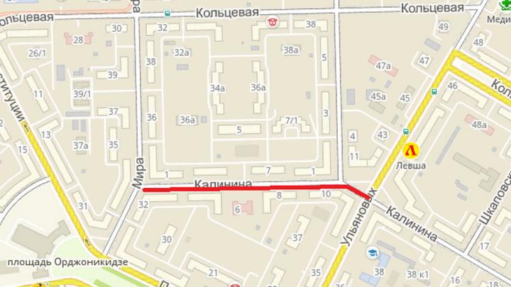 Внимание, ремонт! На улице Калинина в Уфе закрыт проезд