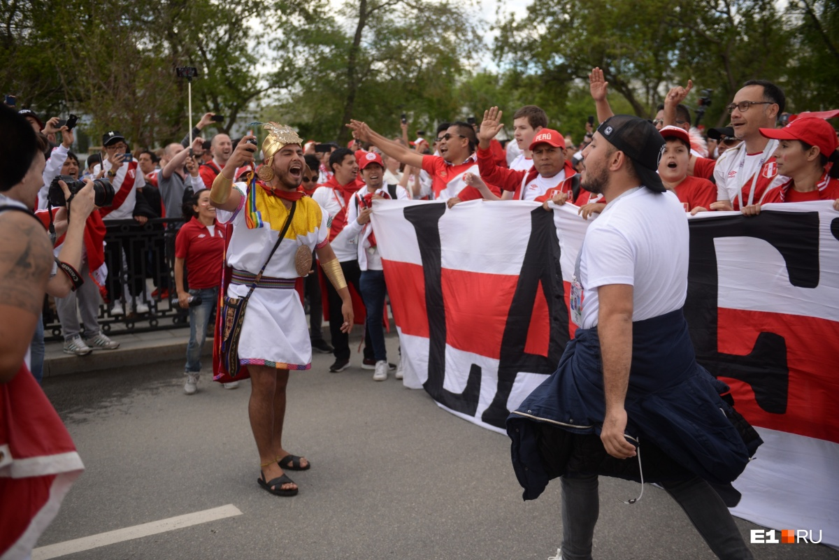 В Екатеринбурге шумных и веселых перуанцев очень полюбили