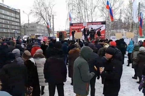 Последний крупный митинг в Перми проходил 17 февраля в Саду камней