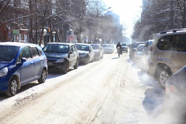Запрет на парковку начнёт действовать с 18 января